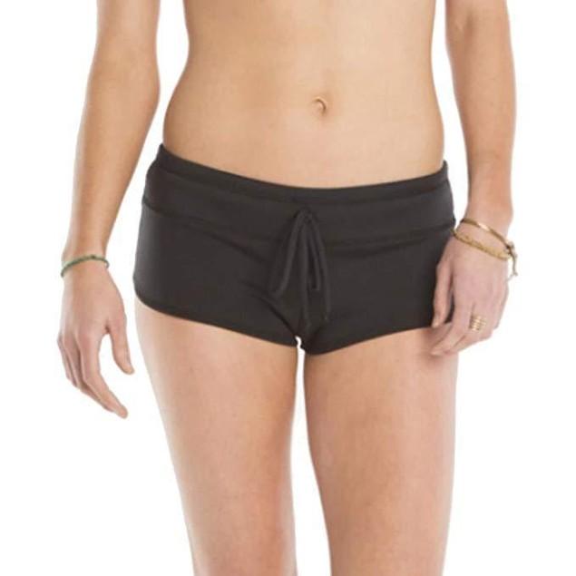 CARVE Designs Women's Stella Duckdive Boyshorts Black Underwear SZ: LG