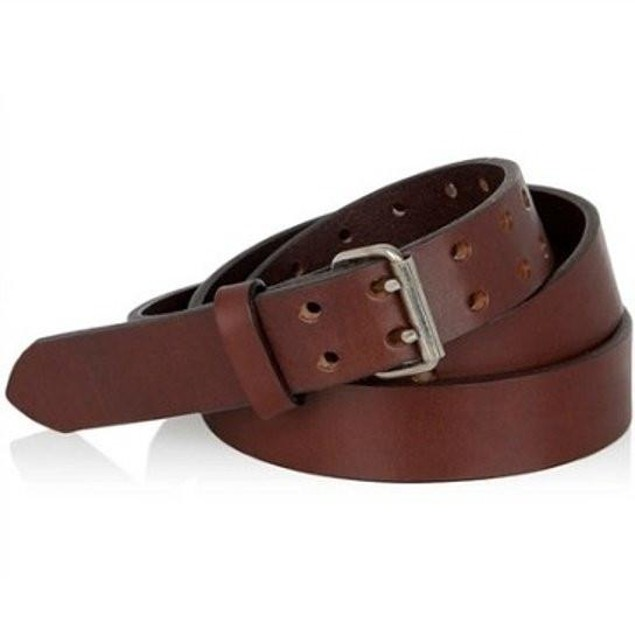 Buy 1 Get 1 Free: Men's Leather Double Prong Belts