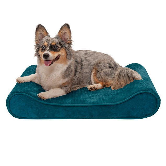 FurHaven Minky Plush & Velvet Luxe Lounger Cooling Gel Pet Bed