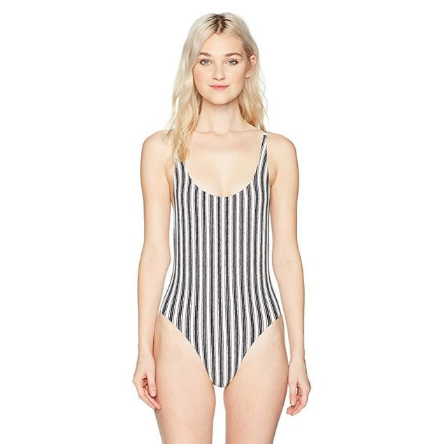 Billabong Junior's Get in Line One Piece Swimsuit, Multi, M