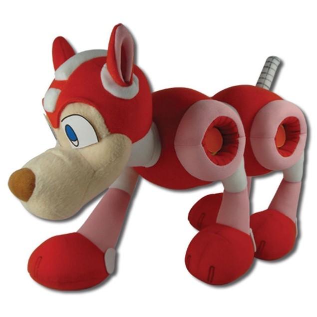 Mega Man 10 Rush Plush Doll Ten Dog Robot Video Game Red Pet Megaman Anime