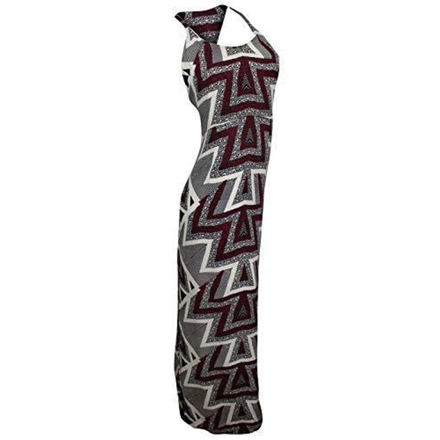 Free People Women's Serves You Right Printed Maxi Black Combo Dress 4