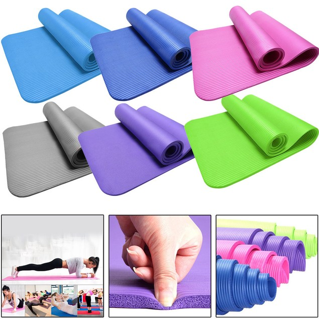 10MM Thick Durable Yoga Mat Non-slip Exercise Fitness Pad Mat