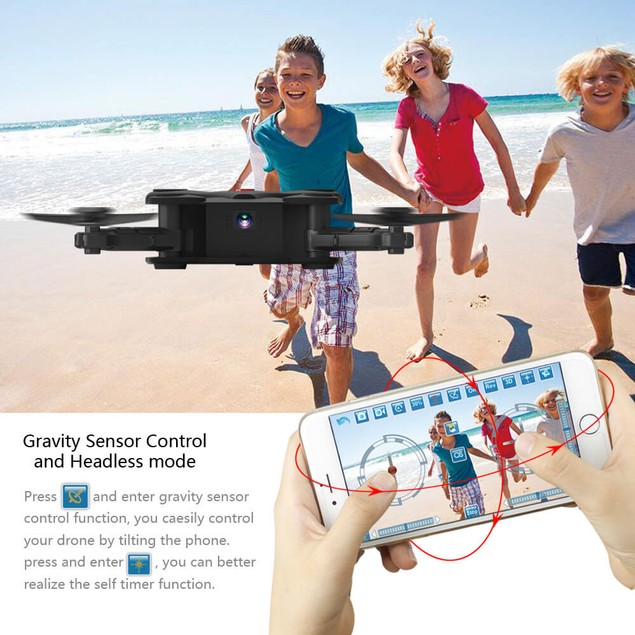 FQ777 FQ17W WIFI FPV Foldable Drone With 0.3MP Camera Altitude Hold Mode