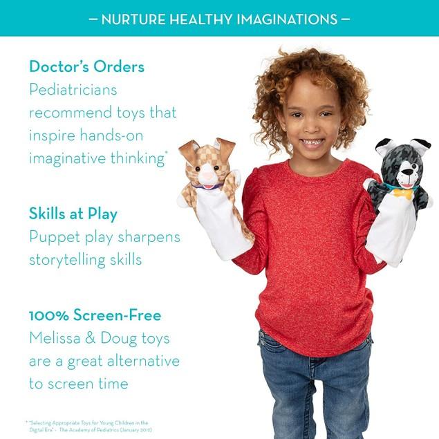 Melissa & Doug Highest Quality Standards Pet Buddies Soft Hand Puppets Set