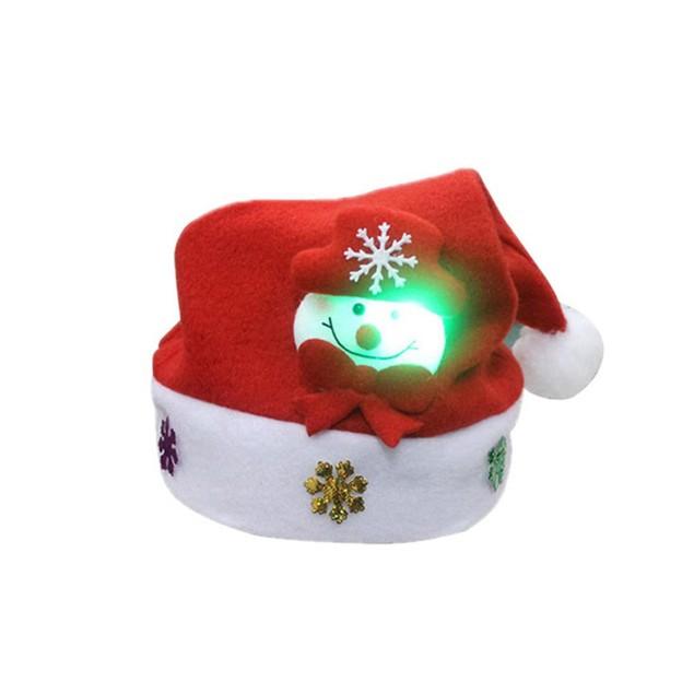 Adult LED Christmas Hat Santa Claus Reindeer Snowman Xmas Gifts Cap