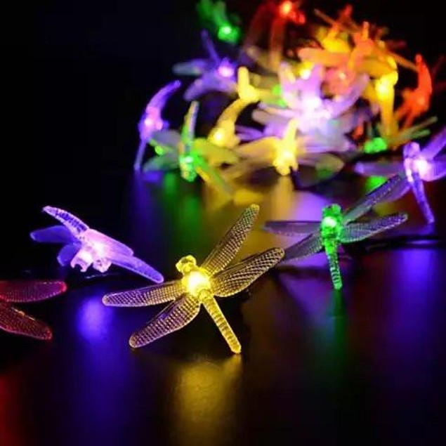 Solar Powered DragonFly LED Light String