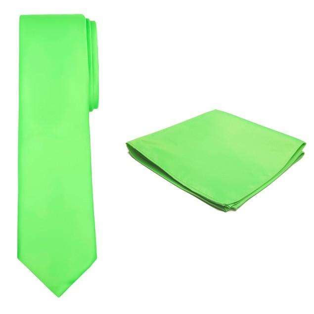 Jacob Alexander Solid Color Men's Tie and Hanky Set