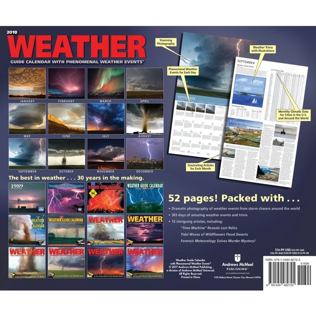 Weather Guide Wall Calendar, Weather by Calendars