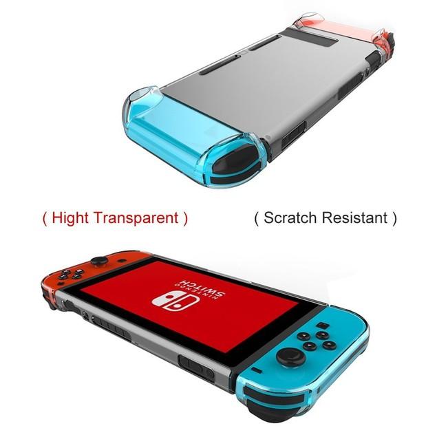 Nintendo Switch Case 3 Segment Design Transparent Clear Tablet Hard Case