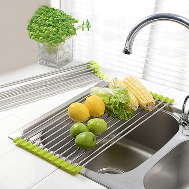 Foldable Stainless Steel Kitchen Sink Rack