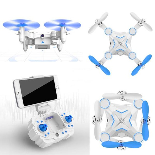 Mini Foldable 2.4G 4CH 6Axis RC A key return Quadcopter Drone HD FPV 3MP