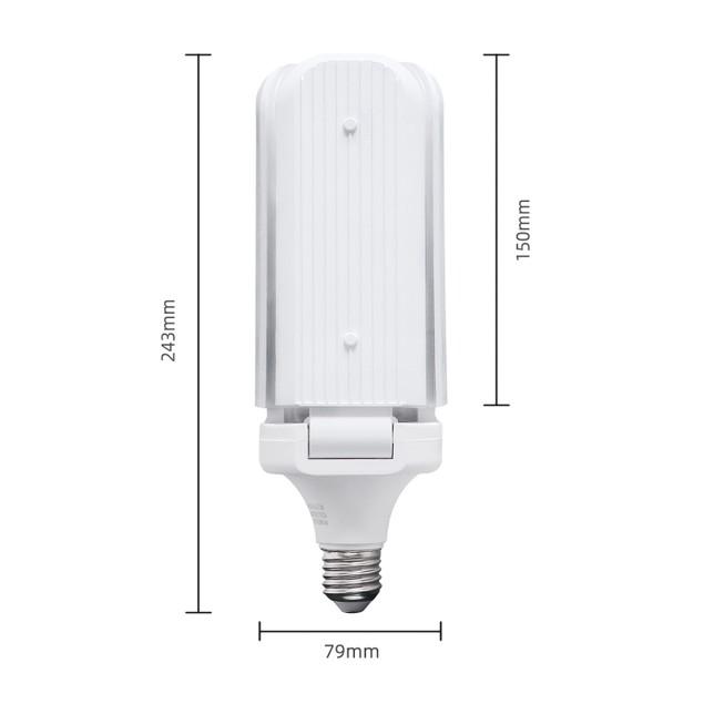 4Pcs Folding LED Garage Light Three-page 45W