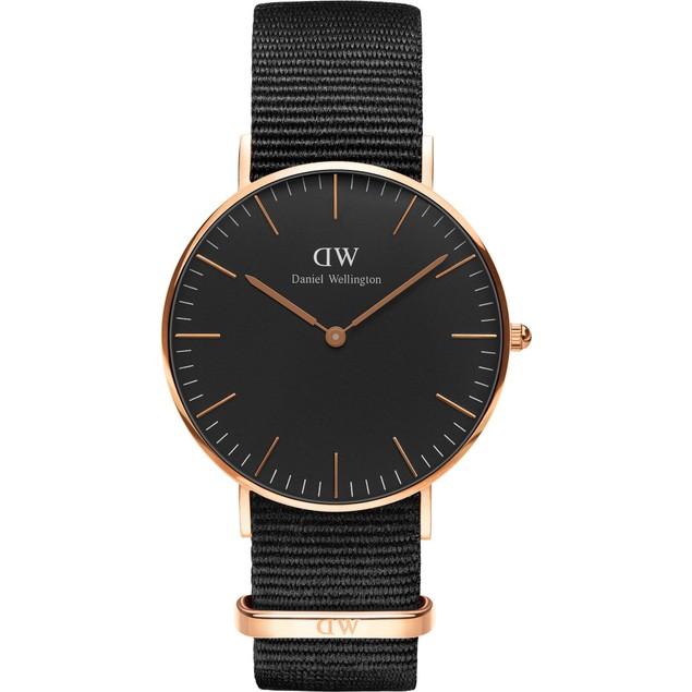WATCH DANIEL WELLINGTON STEEL BLACK BLACK WOMAN DW00100150