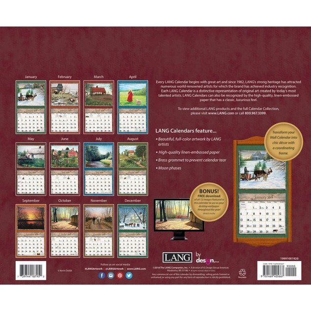 Journey Home Wall Calendar, Lang Folk Art by Calendars