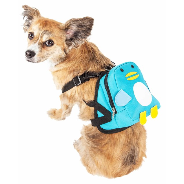 Pet Life 'Waggler Hobbler' Compartmental Animated Dog Harness Backpack