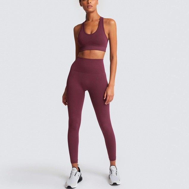Women's Seamless Knitted Hip Sports Yoga Suit Fitness
