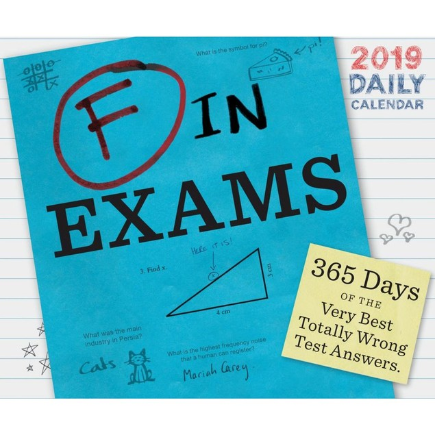 F in Exams Desk Calendar, More Humor by Calendars