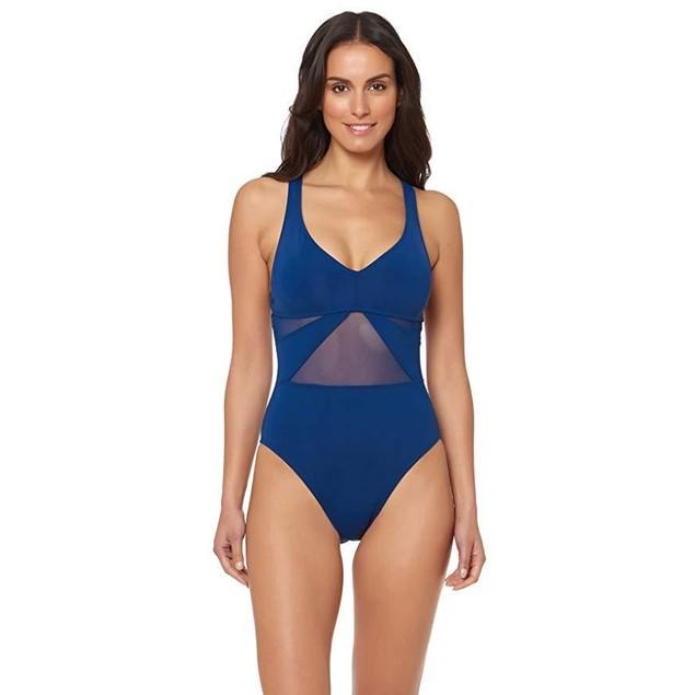 Bleu Rod Beattie Women's One Piece X-Back Tank Swimsuit Navy 6