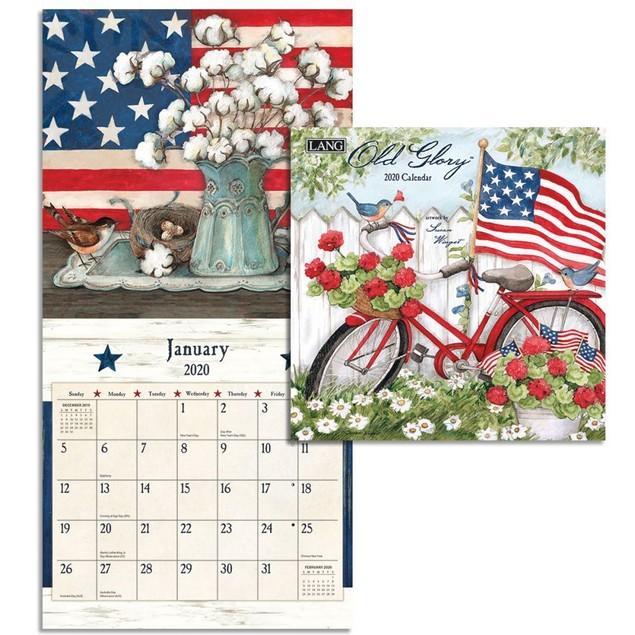 Old Glory Mini Wall Calendar, LANG Wall Calendar by Calendars