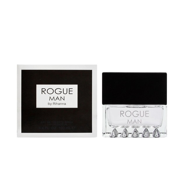 Rihanna Rogue Man for Men Eau De Toilette Spray Cologne, 3.4 Fl. Oz.