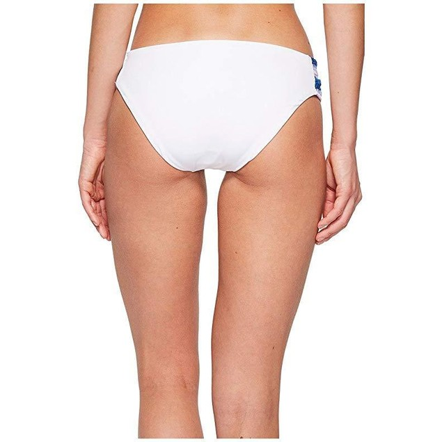 Becca by Rebecca Virtue Women's Tab Side Hipster Bikini Bottom White M