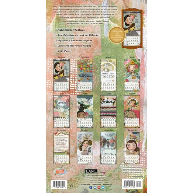 Kelly Rae Roberts Slim Wall Calendar, Vertical Wall Calendars by Calendars