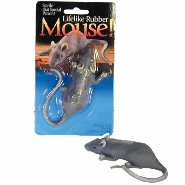 Lifelike Rubber Mouse Funny Practical Joke Fake Scary Prop Gag Gift Toy