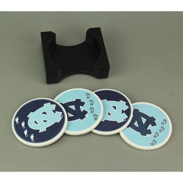 University Of North Carolina Tar Heels 4 Piece Coasters