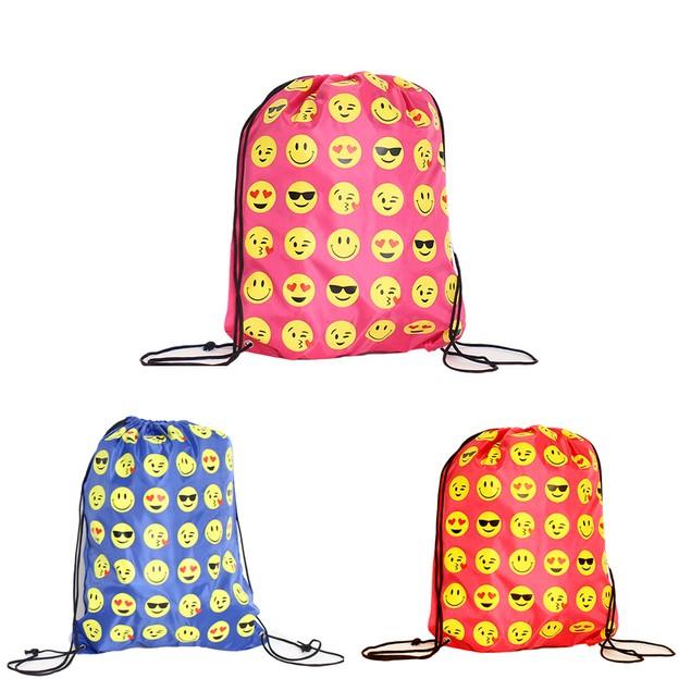 Emoji Drawstring Backpack