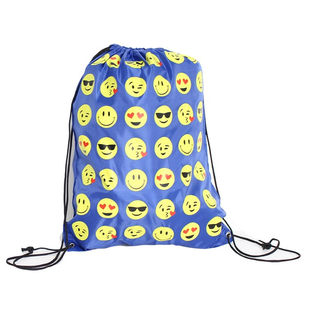 Emoji Drawstring Backpack
