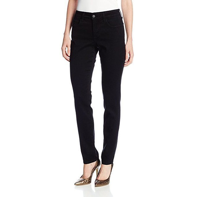 NYDJ Women's Petite Alina Legging Fit Skinny Jeans, Black, 10P