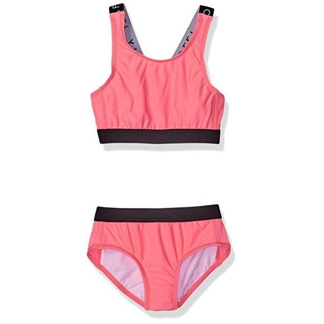 Seafolly Big Girls' Summer Essentials Tankini, Coral Pink,  ausSz: 14