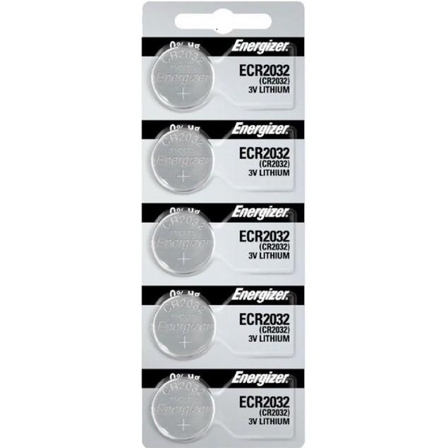 Energizer CR2032 3-Volt Lithium Coin Cell Batteries (5 Batteries)