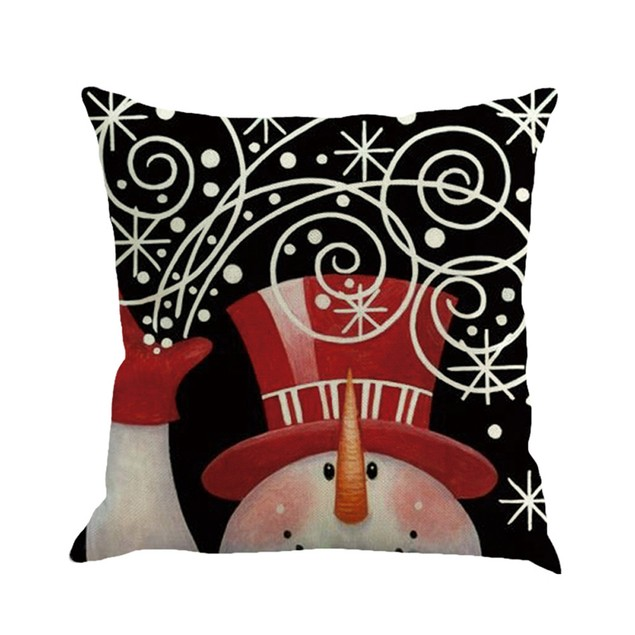 Christmas Printing Dyeing Sofa Bed Home Decor Pillow Cover Cushion Cover P