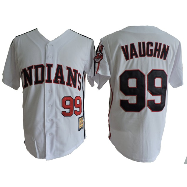 Rick Wild Thing Vaughn #99 Deluxe Embroidered Baseball Jersey