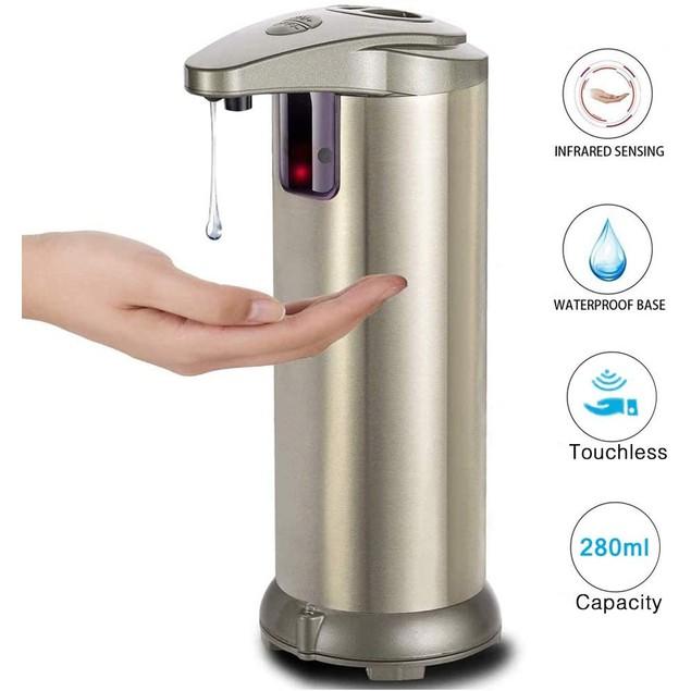 Automatic, Touchless Liquid Soap Dispenser & Hand Sanitizer Dispenser