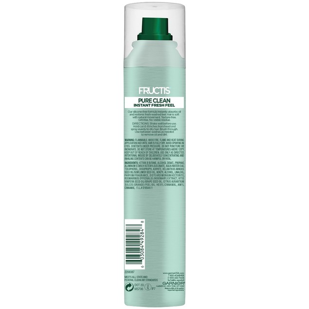 Garnier Fructis Pure Clean Silicone-Free Dry Shampoo, 3.4 Oz.