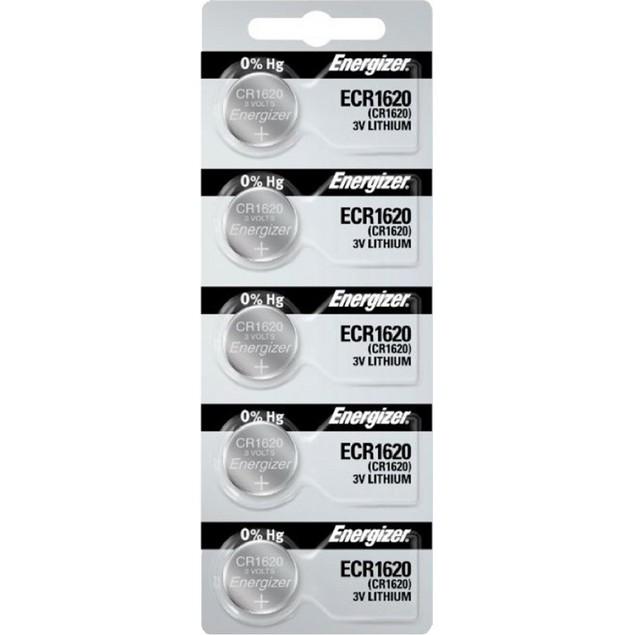 Energizer CR1620 3-Volt Lithium Coin Cell Batteries (5 Batteries)