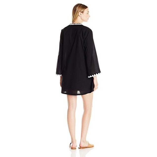 ATHENA Women's Cabana Essentials Laila Tunic Cover up, Black, SIZE MED