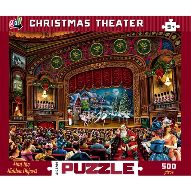 Christmas Theater 500 Piece Puzzle, Prestige Vision Co., Ltd. by Go! Games