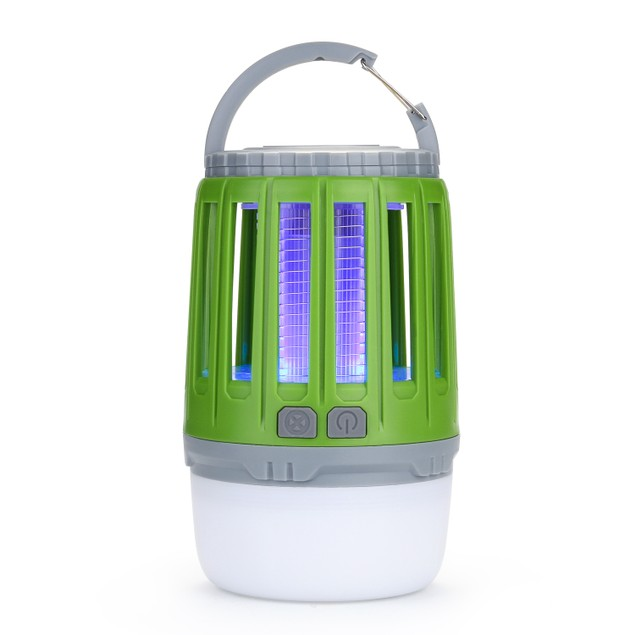 ODOLAND 2 in 1 LED Mosquito Killer Camping Light Lamp USB Rechargeable