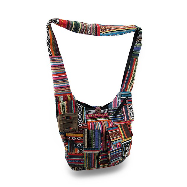 Colorful Boho Striped Cotton Tapestry Cross Body Womens Cross Body Bags
