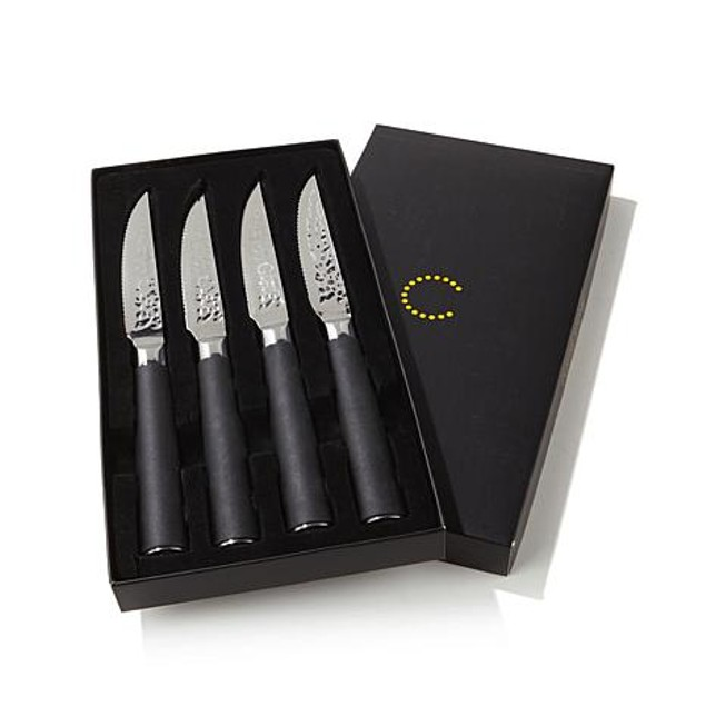 4-Piece Set: Curtis Stone Samurai Hammered Steak Knives