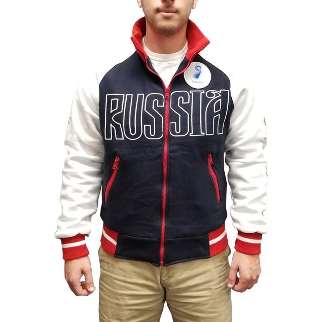 Yuri Plisetsky Russia Navy Blue And White Jacket