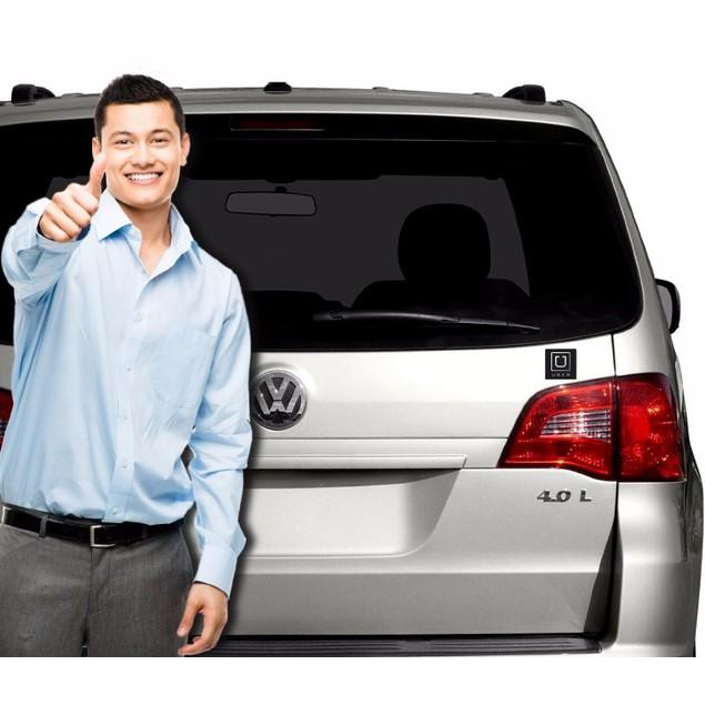 "Zone Tech 2x UBER Black Logo Car Magnets 3.5x3.5"" Vehicle Magnet Sign"