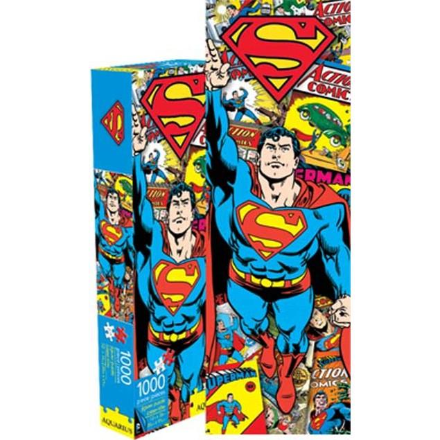 Superman Retro Jigsaw Puzzle 1,000 Piece DC Comics Vintage Clark Kent