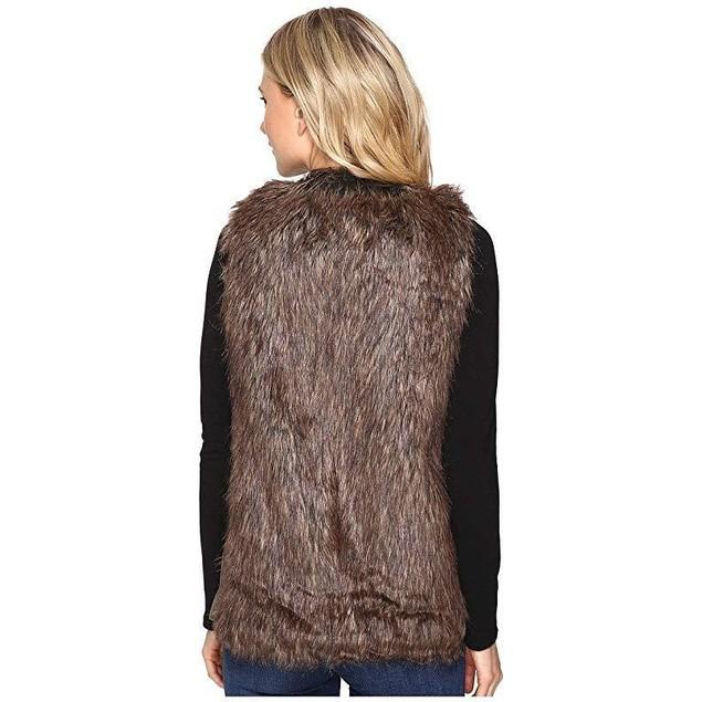 Brigitte Bailey Women's Whist Faux Vest Brown Outerwear
