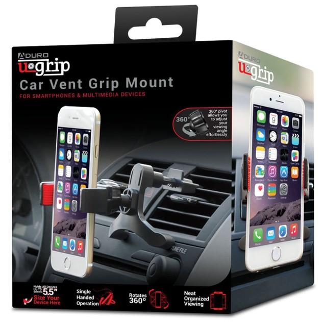 2-Pack Aduro U-Grip Universal Tri-Grip Car Vent Mount