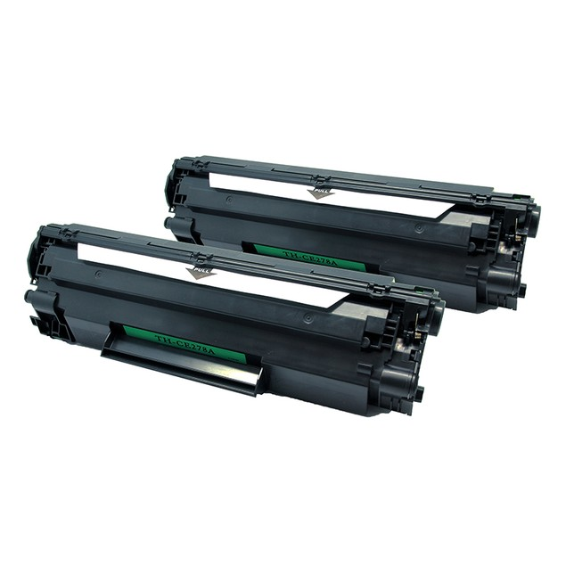 2-Pack HP CE278a & Canon 128 Compatible Laser Toner
